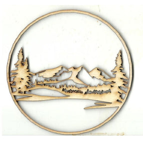Mountain Scene - Laser Cut Wood Shape Xtr2 Craft Supply