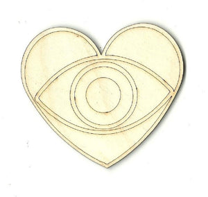 Heart Eye - Laser Cut Wood Shape Xtr46 Craft Supply