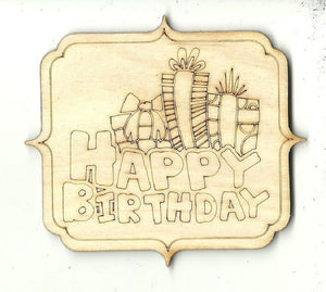 Birthday Sign - Laser Cut Wood Shape Xtr68 Craft Supply
