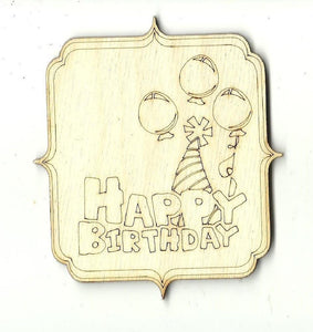 Birthday Sign - Laser Cut Wood Shape Xtr71 Craft Supply