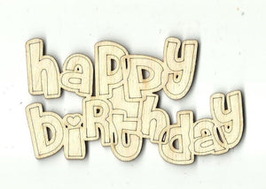 Birthday Sign - Laser Cut Wood Shape Xtr81 Craft Supply