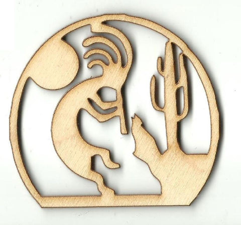 Kokopelli Picture - Laser Cut Wood Shape Xtr83 Craft Supply