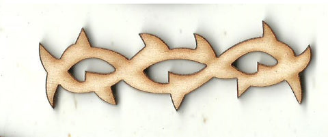 Barbwire - Laser Cut Wood Shape XTR99