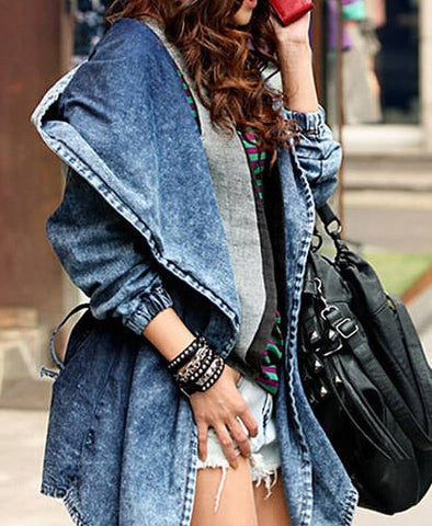 Grunge BoHo Jean Style Jacket, All Sizes