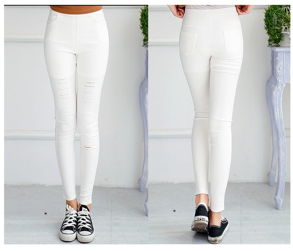 leggings Stretch Elastic Style Look Like Jeans, All Sizes