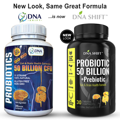 Probiotics© 50 Billion CFU, 11 Bacterial Strains 100% Natural Supplement - 60 Veg Caps (2x 30 Veg Caps Bottles Individually Boxed)
