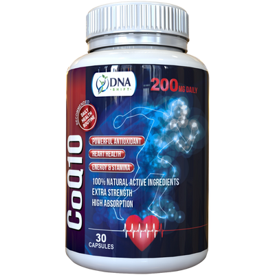 CoQ10 200mg EXTRA STRENGTH Coenzyme Q10 Antioxidant Supplement - 30 Veg Caps