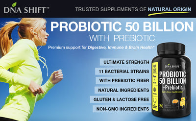 Probiotics© 50 Billion CFU, 11 Bacterial Strains 100% Natural Supplement - 90 Veg Caps (3x 30 Veg Caps Bottles Individually Boxed)
