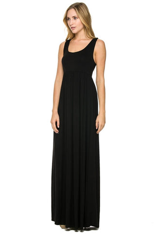Tank Top Maxi Dress Black On Display Boutique