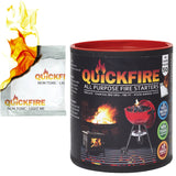 QuickFire - All-Purpose Weatherproof FireStarters. 100% Waterproof, Odorless And Non-Toxic