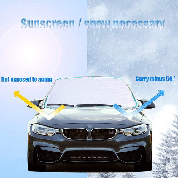 Upbee® New Magnetic Summer & Winter Sun Cover for Car Window, Pick Up Trucks, & SUV's - ( 1 Pack & 2 Pack)