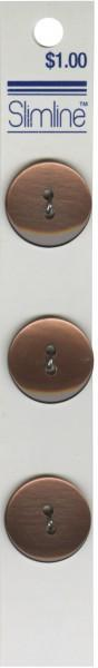 2 Hole Button Brown 3/4in 3ct