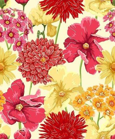 HTV Red Yellow Floral