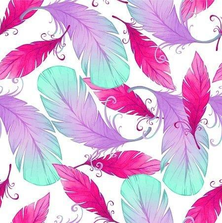 HTV Purple Pink Feathers