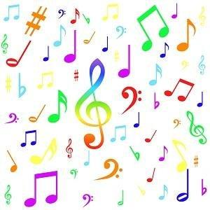 Bright Music Notes Adhesive