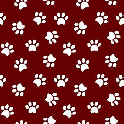 HTV Maroon and White Paw