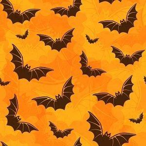 Bats on Orange Adhesive Vinyl