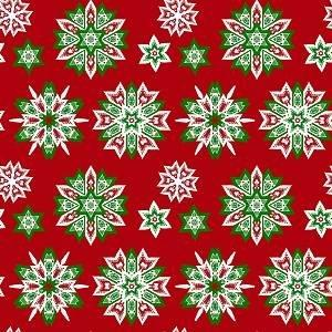 HTV Snowflakes on Red