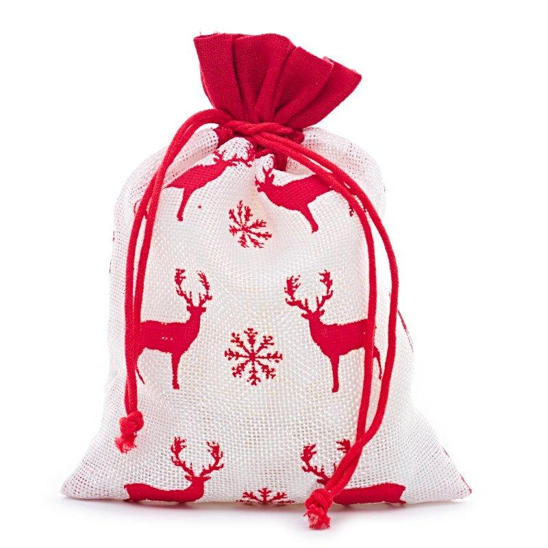 6x8 White/Red Christmas Deer