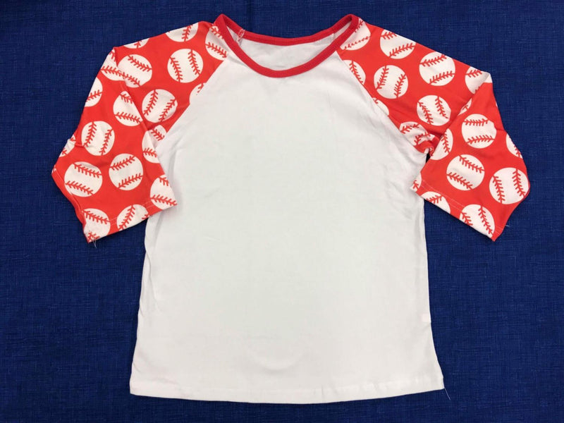 Red Baseball Sleeve Boy Raglan