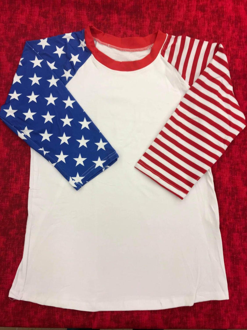 Flag Sleeve Adult Raglan