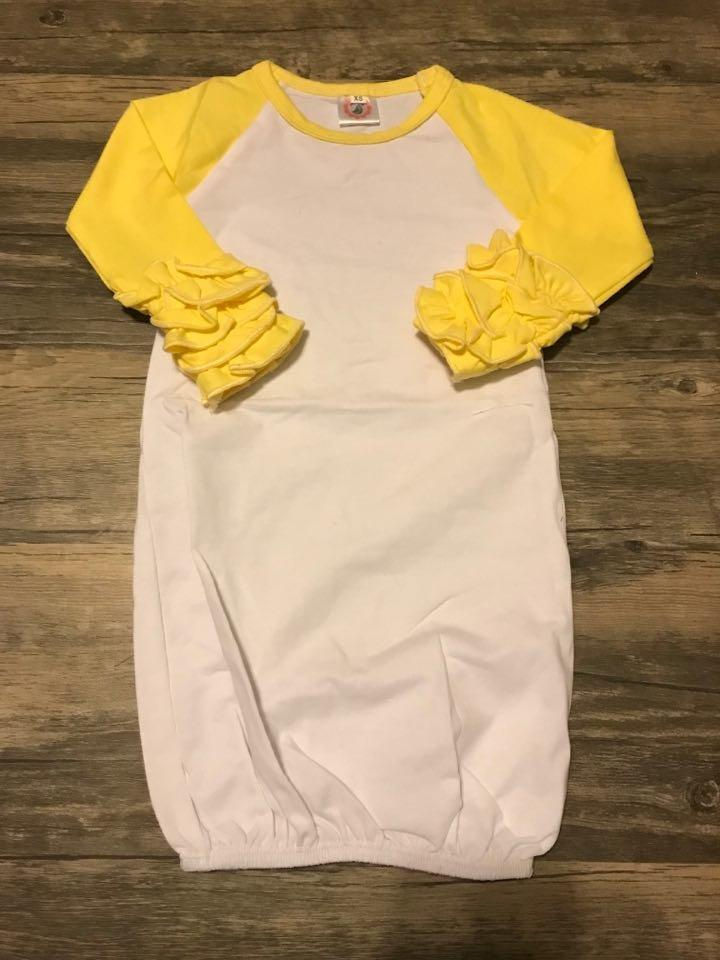 Yellow Baby Ruffle Gown