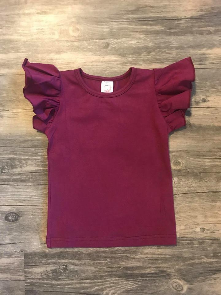 Wine Girl Flutter Sleeve