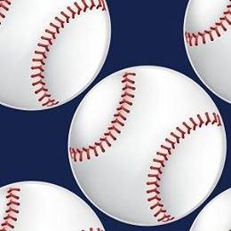 Baseballs on Navy Adhesive