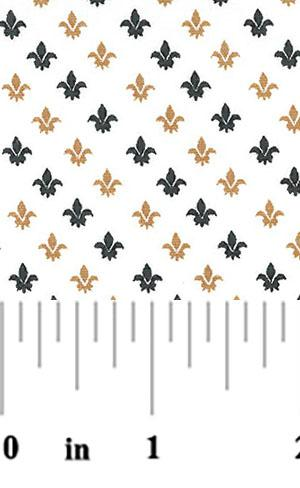 Black and Gold Fleur de Lis