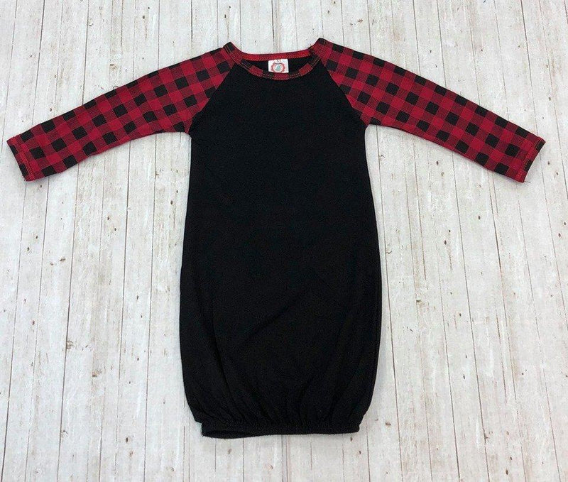 Buffalo Plaid Baby Gown no