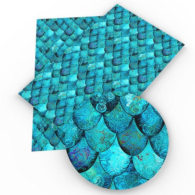 Aqua Mermaid Scales Faux