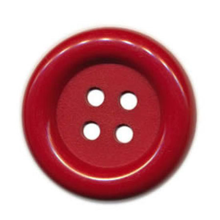 1 3/4 inches Red Button