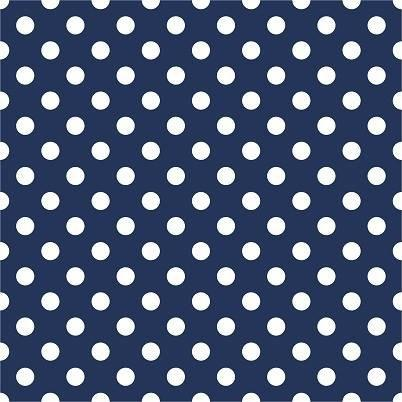HTV Navy and White Dots