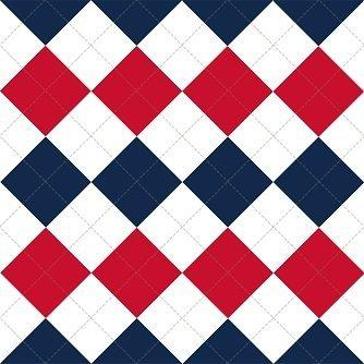HTV Navy and Red Argyle