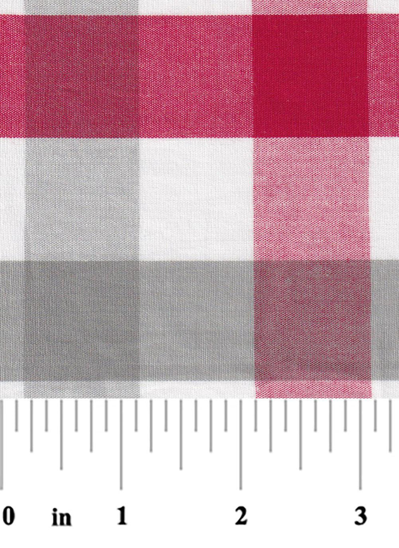 "1"" Red and Grey Check"
