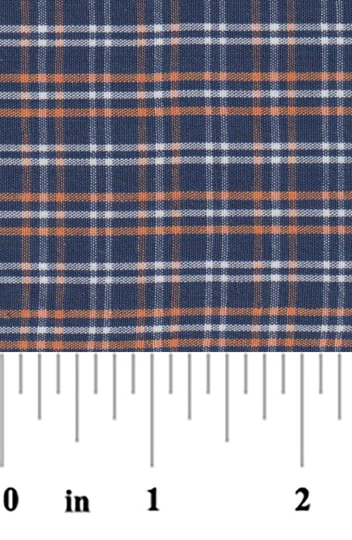 Navy and Orange Plaid P-60