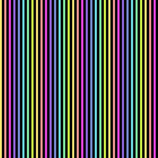 Rainbow Sprinkles Stripe Black
