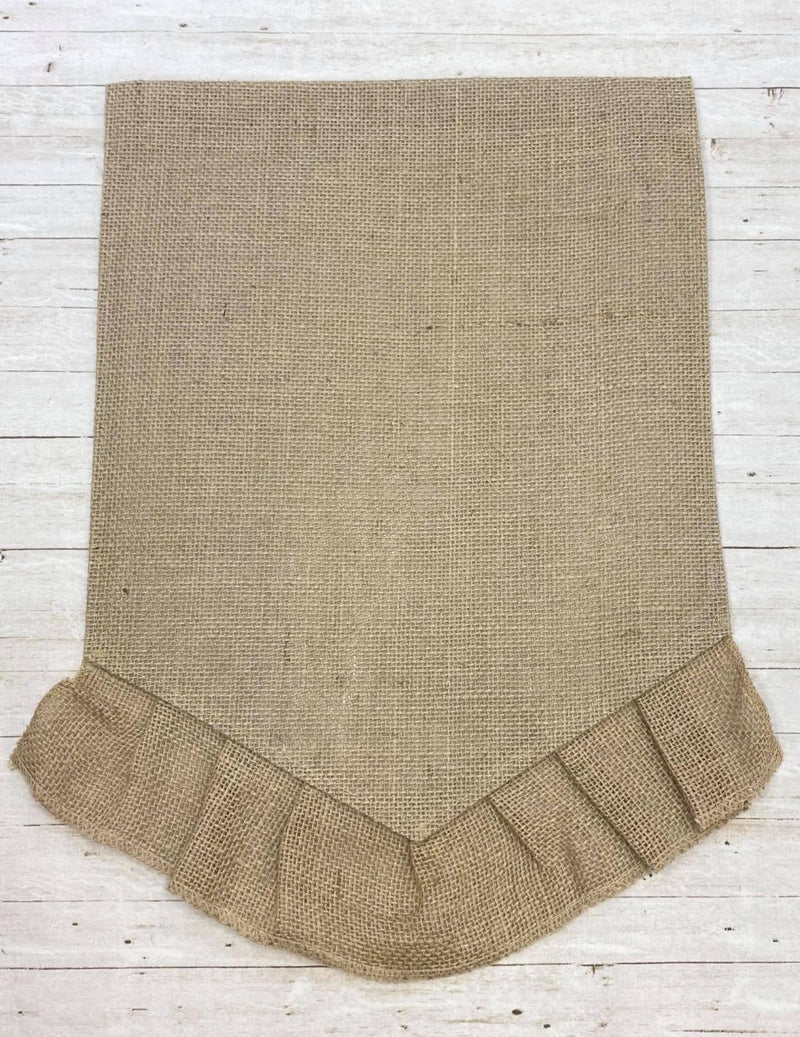Natural Ruffle Garden Flag