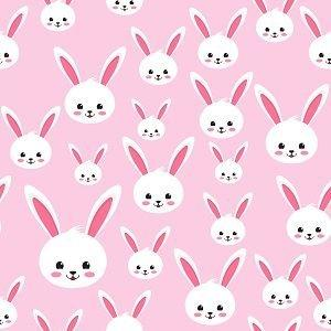 Bunny Faces on Pink Adhesive