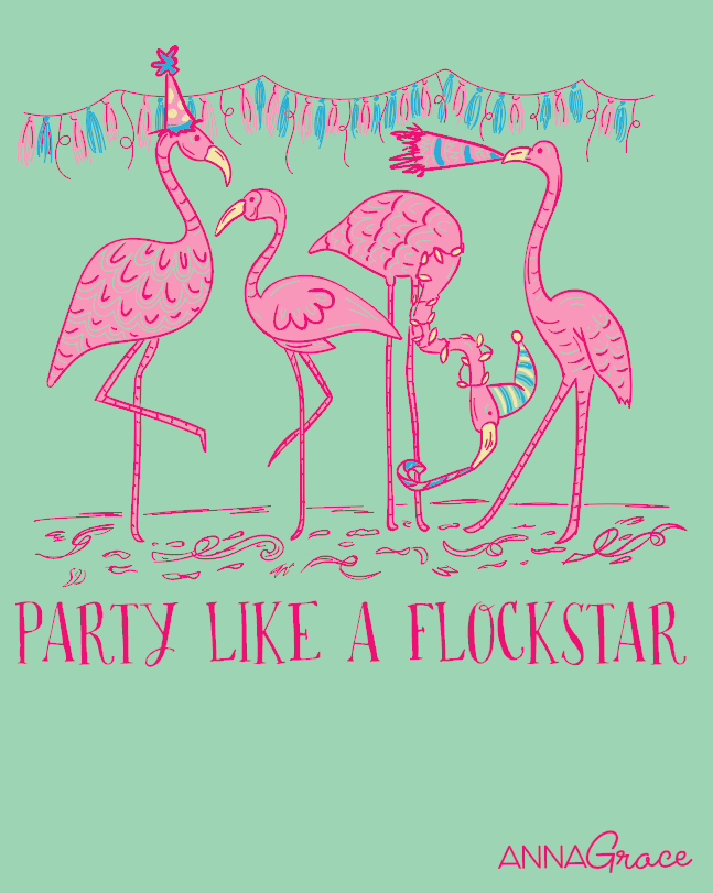 "ANNA GRACE ""Flockstar"" Flamingo Tee"