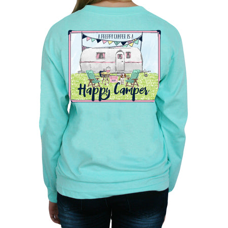 "Southern Girl Prep  ""Happy Camper"" Long Sleeve T-shirt"