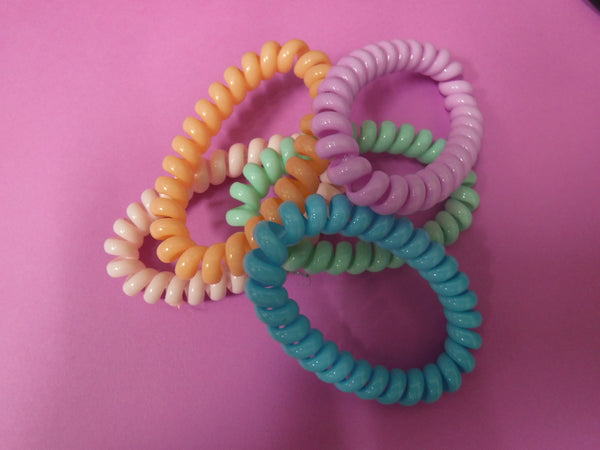 Telephone Cord Hair Ties