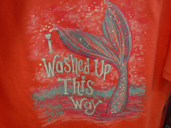 "YOUTH Sassy Frass Tee ""I Washed Up This Way"" Comfort Color Tee- 3 Color Choices"
