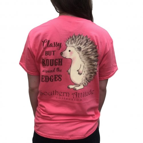 "Southern Attitude ""Classy Hedgehog"" Short Sleeve Tee"