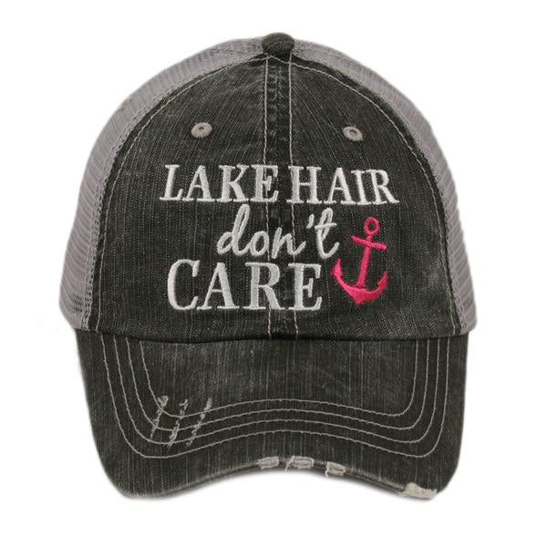 Katydid Lake Hair Don't Care Trucker Hat - 2 Color Choices