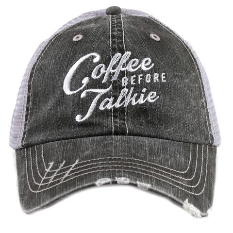 Katydid Coffee before Talkie Trucker Hat