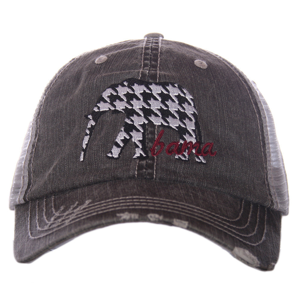 Katydid Alabama Houndstooth Elephant Trucker Hat