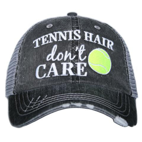Katydid Tennis Hair Don't Care Trucker Hat