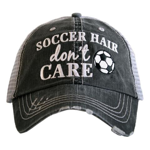 Katydid Soccer Hair Don't Care Trucker Hat