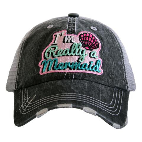 Katydid I'm Really a Mermaid Patch Trucker Hat